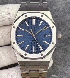Bule stahl online-Luxusuhr für Herren Designeruhren Bule Dial Automatik mechanisches Uhrwerk 15400 Armbanduhren Edelstahl 316 Montre de Luxe
