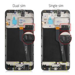schermata lcd per mega della galassia Sconti IPS dello schermo per display LCD tattile a cristalli liquidi di Samsung Galaxy A10 Digitizer Assembly Sensore di vetro per Samsung A105 A105 A105F LCD A105FD