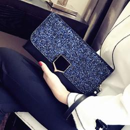 2019 bolsas coreanas de bloqueo Primavera 2019 Nuevo monedero de Corea del bloqueo de moda bolso de la cena Temperamento Bolsa de hombro portable Slung bolsas coreanas de bloqueo baratos