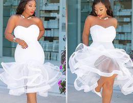 Boda caliente del vestido de la noche online-Eventos de vestidos de boda atractivos Vestidos para ocasiones especiales Fiesta cóctel Vestido de noche Playa sin respaldo Vestido de bola
