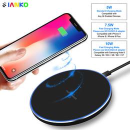 солнечный телефон зарядное яблоко Скидка Быстрое беспроводное зарядное устройство KD-1 для iPhone X Xr-Xs Max 8Plus 10 Вт ExtraThin со светодиодной вспышкой для Samsung S10-S9-S8-S7 Быстрая беспроводная зарядка