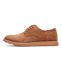 zapatos de tendencia masculinos Rebajas The New England Trend Zapatos casuales de ante Oxford para hombre Zapatos de vestir de cuero Brogue de cuero para hombre para hombre Zapatos de pisos para hombres