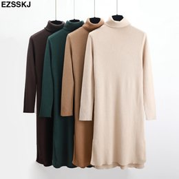 c80acf153d loose straight dress styles 2019 - 2018 thick straight dress Autumn Winter  loose sweater dress Women