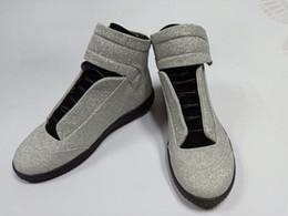 Deutschland Hohe Qualität Maison Martin Margiela High Top Sneaker Mans Schuhe Herren Walking Flats Schuhe Rot MM Trainer Kanye West Casual Schuhe 38-46 Versorgung