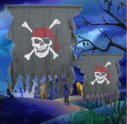 kylie jenner maquillage de noël Promotion Halloween accessoires décoration de la maison pli fleur anneau drapeau Corée toucher suspendu drapeau ornements drôle drapeau de pirate rideau spoof jouet