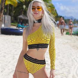 2019 coolsten bikinis Neuer geteilter Badeanzug, sexy Ein-Schulter-Badeanzug für Damen, Bikini mit Leopardenmuster, hochwertiger Badeanzug mit hoher Elastizität. Also cool und gut günstig coolsten bikinis