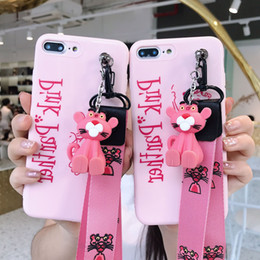 poupée coquine Promotion Support de poupée rose cas de téléphone léopard pour Iphone Xs Max X brillant TPU souple cas de téléphone portable pour Iphone 7 6 Plus