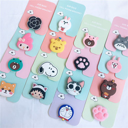 Für iphone cartoon silikon handyhalter 79 stile emoji airbag stehen cat dog bear grip ring universal tier erweitern stretch phone stander von Fabrikanten