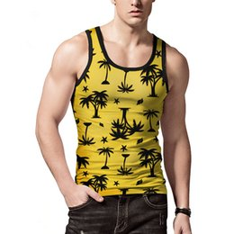 5f9add7b5fe74 Mens Summer Vest Hawaii Tank Tops Tropical 3D Printed Vest T Shirts  Sleeveless 2019 Large Size Male Underwear M L XL XXL Yellow