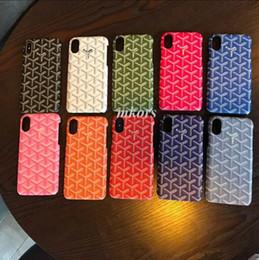 Grid elegante caixa do telefone móvel para o iphone xs xs max xr 8 8 plus 7 7 plus 6 6 s além de moda pele colorida capa pintada para iphone8 de