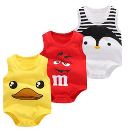 jimmybaby Baby Bag Fart Estate Pure Cotton Vest Vestiti Baby Boy Sleeveless Cartoon Body Estate Newborn Baby Tuta Per ragazzi infantili da