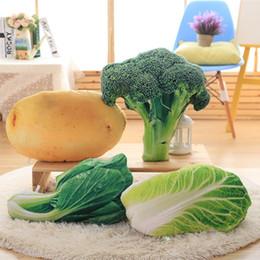 Kreative Simulation Gemüse-Kissen-Kissen-Plüsch-Spielzeug Nap Kissen Brokkoli für Kinder Weihnachtsgeschenke von Fabrikanten