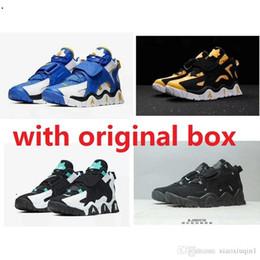 Zapatos de aire duro online-Barato air barrage mid Uptempo zapatos de baloncesto para hombre foam posites one retro en venta AJ 11 lebron 16 KD 13 Penny Hardaway Pippen sneakers 12