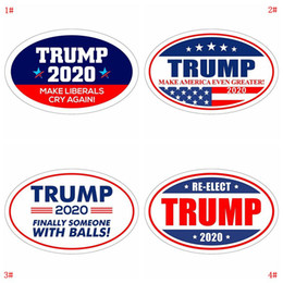 sticker designs for cars Coupons - Donald Trump Sticker Refrigerator Sticker 2020 Presidential Election Wall Stickers Keep Make America Great Decal Stickers For Car DBC VT0515