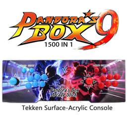 console de machine de jeu Promotion 2018 [1500 HD] Console de jeux vidéo Arcade Jeux rétro plus Machine d'arcade Double manette de jeu d'arcade avec système de refroidissement pour haut-parleur