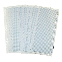 10 folhas 24 Ponto Cartão Soco e 2 Clipes de Plástico para Máquinas de tricô Soco Cartões DIY Camisola Mão Artesanato Acessório de