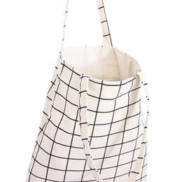Deutschland Mode Kosmetiktaschen Student Baumwolle Leinen Plaid Schulter Tote Handtasche Eco Shopping Große Kapazität Leinwand Geldbörse Tasche für Mädchen Beliebte DHL Versorgung
