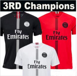 18 19 PSG Paris Third 3RD champions camiseta de fútbol roja MBAPPE 2019  Maillot De Foot hombre niños mujeres Fútbol camiseta top calidad Tailandia d0560009244ad