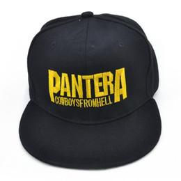 Pantera Banda de heavy metal Letra Gorras de béisbol Cowboys From Hell rock  Gorra de hip-hop moda Sombrero del snapback de hombres y mujeres e3a565b867c7
