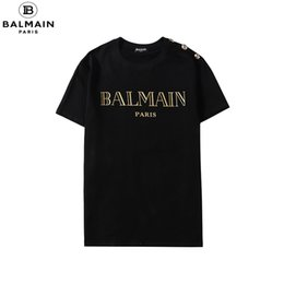 Use camisa floral on-line-Summer Street Wear Designers T-shirt Homens de luxo da marca T-shirt Mens Casual camiseta Moda Imprimir Crew Neck Cotton T-shirt M # Balmain-4XL