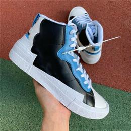2019 gros blazer mi haut sacai blanc légende noire bleue avec les chaussures de course de neige Dunk ? partir de fabricateur
