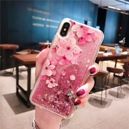 Deutschland Anwendbar für iPhone Xs MAX Xr 6 7 8 Plus Fall Flüssigkeit Treibsand Handyfall transparent glitter neuer Handy-Fall Versorgung