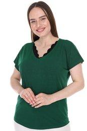 pianoluce Large Size Top da donna verde Lire 2299 da pietra a spalla fornitori