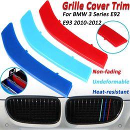 2020 autocollants de sport automobile Couverture de bandes de sport de garniture de grille de voiture 3D pour BMW E92 E93 10-12 3 couleur capuchon Bumper Kidney Grill Grille Motorsport autocollants promotion autocollants de sport automobile