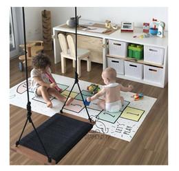 Canada Balançoire pour enfants balançoire intérieure et extérieure carrée Filet à corde pour enfants Balançoires Chaise Chaise pour bébé chaise suspendue cheap backyard play toys Offre