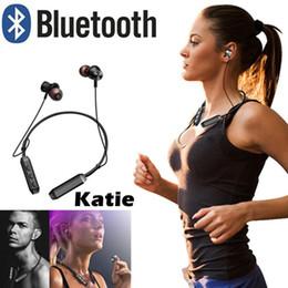 M8 telefono movil online-M8 auricular Bluetooth inalámbrico banda para el cuello de soporte magnético subwoofer deportivo con micrófono para ios teléfono móvil Android
