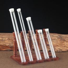 tubos de acrílico transparente Rebajas Acrílico incienso tubo 5g / 10g / 15g / 20g Incienso del barril de almacenamiento caja del paquete cajas de regalo