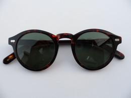 Deutschland Hochwertige Johnny Depp Vintage militante Sonnenbrille mit kleinem Antlitz 46-23-145 HD polarisierte Gläser UV400 Komplettetui cheap full hd sunglasses Versorgung
