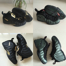 pro lace Coupons - 2019 Penny Hardaway Pro Foams Army Green Black Metallic Gold Basketball Shoes For Men Foam Top quality Mens Classic Sport Sneaker Size 40-47