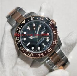 Dois movimentos assistem on-line-Luxo de alta qualidade relógios de pulso GMT II 126711CHNR 126711 40mm Dois tons 18k Rose Gold Ásia 2813 Movimento Mens Automatic Watch Watches