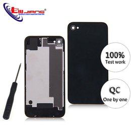 iphone 4s replacement backs Promo Codes - wholesale New Back Housing for iPhone 4 4s Plus Battery Cover Housing Case Middle Chassis Body with IMEI Replacement repair