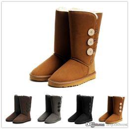 botas altas femininas Desconto Top qualidade de moda de nova australiano clássico alta botas de couro de inicialização botas femininas botas de neve botas de inverno