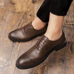 Mariage Chaussures En Size De Flats Cuir 47 Casual 2019 Vêtent Tendance Male Plus Angleterre Hombre Hommes Zapatillas Oxford Split SjLzGqpUMV