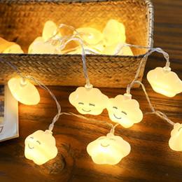luces de navidad seguras Rebajas La nueva forma de las nubes de la sonrisa enciende las luces de la secuencia del LED Luz de hadas del LED para la Navidad Fiestas de Navidad Decoración Iluminación LED segura y ecológica