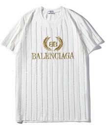 le donne t-shirt strass Sconti 9102 nuovo tee bianco uomo donna lettera d'oro logo ricamo strass T-Shirt manica corta O-Collo T-Shirt all'ingrosso S-XXL