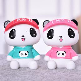 черная затяжка Скидка Детская панда копилка подарок на день рождения Cute Cartoon Money Box предметы интерьера