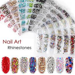 diamanti di vetro per la decorazione Sconti Nail art Strass Decorazioni Flat Bottom Glass Strass Size Mixing Shiny Diamond Manicure Tools Accessori fai da te HHA316