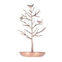 metall schmuck baum stehen Rabatt Metall Baum Schmuckständer Display Rack Ohrring Halskette Ring Halter Veranstalter