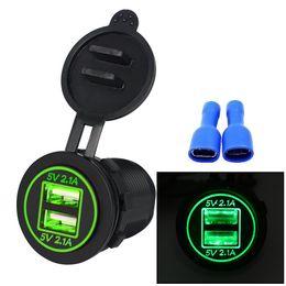 2019 hyundai auto ladegerät Saim Motorrad Auto 4.2A Wasserdicht Dual USB Auto Handy Ladegerät Modifiziert Zubehör Dual Aperture