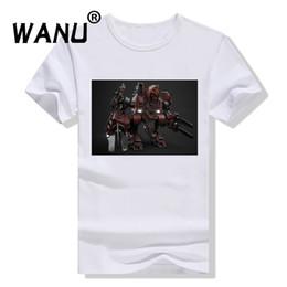 Argentina WXGO Cool Men Tshirt Comic Cartoon Print ciencia ficción Robot Gun Cool Graphic Camisetas Casual T-shirt Fashion Tops Tees supplier gun robot Suministro