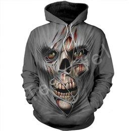 2019 camicie di arte 3d Tessffel Skull Art flower camo Felpa con cappuccio stampata in 3D completa / Felpa / Giacca / camicie Uomo Donna HIP HOP fit colorato Harajuku style-6 camicie di arte 3d economici