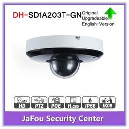 Canada DH SD1A203T-GN avec logo original 2MP 1080P zoom optique 3X caméra réseau Starlight Vision PTZ POE IR 15m IR WDR IVS ONVIF IP66 supplier cameras ip66 ptz Offre