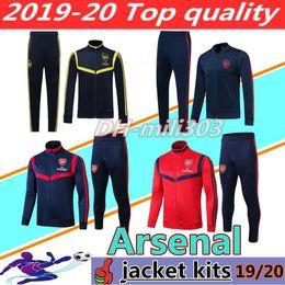 2019 2020 treino de arsenal AUBAMEYANG OZIL fato de treino 19 20 LACAZETTE MKHITARYAN PEPE D.CEBALLOS fato de treino casacos de futebol de futebol de