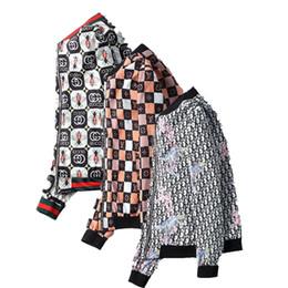 Abrigo de serpiente online-diseño de lujo de la chaqueta con capucha para hombre del modelo Marca chaquetas con capucha de moda del tigre estampado de serpiente Escudo de la cremallera rompevientos ropa de invierno