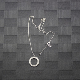 Collier cerceau d'or en Ligne-Femmes Diamant Pendentif Cerceau Collier Saint Valentin Or Rose Long Collier De Mariage De Fiançailles Bijoux