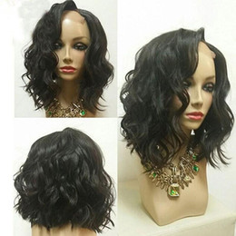 Pelucas de pelo peruano venta online-U Part Wigs Short Peruvian U Part Wigs For Black Women Wave Upart Bob Peluca de cabello humano para la venta